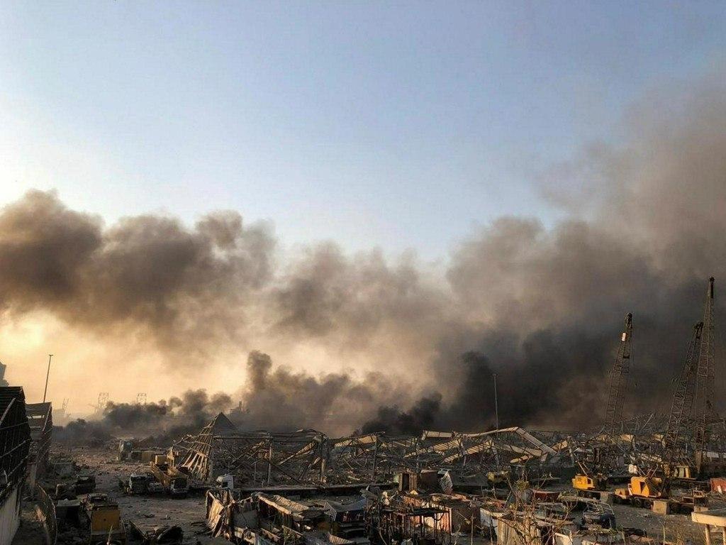 """โกดังระเบิดในเลบานอน ใช้เก็บ """"แอมโมเนียมไนเตรท"""" เตือนประชาชนระวังสารพิษ"""