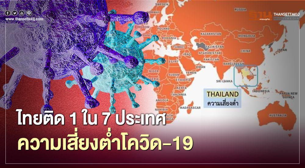 สหรัฐจัดให้ไทยเป็น 1 ใน 7 ประเทศเสี่ยงโรคโควิด-19 ในระดับต่ำ
